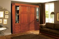 armoire lit massif couchage 140 ou 160 cm louis philippe. Black Bedroom Furniture Sets. Home Design Ideas