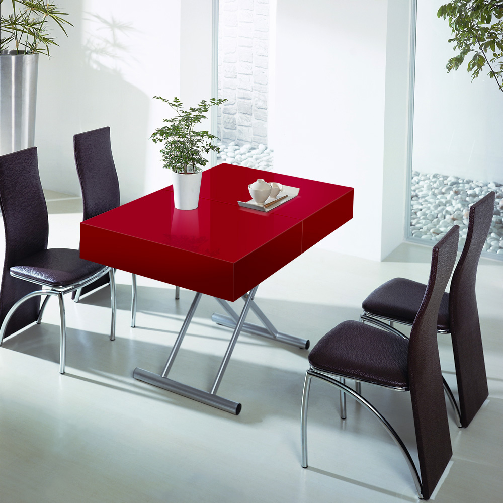 table relevable cassidy red mo cassidy magasin meublus. Black Bedroom Furniture Sets. Home Design Ideas