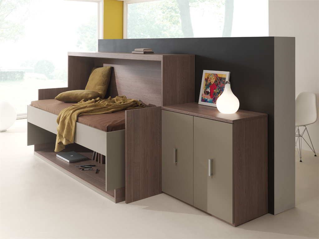 lit escamotable bureau mada 90x200 cm mada magasin. Black Bedroom Furniture Sets. Home Design Ideas