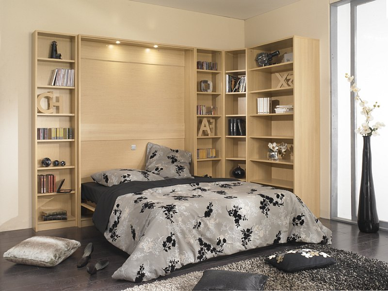 lit meuble librairies couchage 90 ou 140 cm litlib magasin meublus armoire lit diffusion. Black Bedroom Furniture Sets. Home Design Ideas